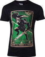 oblečení pro hráče Tričko The Legend of Zelda - Propaganda Link Triforce (velikost XL)