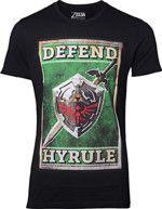 oblečení pro hráče Tričko The Legend of Zelda - Propaganda Sword and Shield (velikost L)