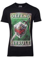oblečení pro hráče Tričko The Legend of Zelda - Propaganda Sword and Shield (velikost M)