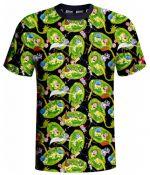 oblečení pro hráče Tričko Rick and Morty - Portals (velikost M)