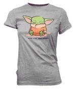 oblečení pro hráče Tričko Star Wars: The Mandalorian - Sleeping Child (velikost S)