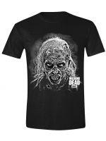 oblečení pro hráče Tričko The Walking Dead - Hideous Walker Face (velikost L)