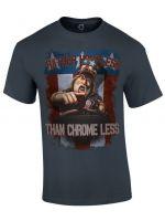 oblečení pro hráče Tričko American Truck Simulator - Rather Homeless Than Chrome Less (velikost S)