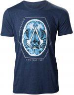 oblečení pro hráče Tričko Assassins Creed - Find Your Past Brain Crest (velikost L)