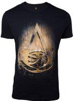 oblečení pro hráče Tričko Assassins Creed: Origins -  Hieroglyphics Crest (velikost L)
