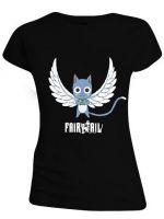oblečení pro hráče Tričko dámské Fairy Tail - Happy Angel (velikost M)
