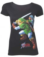 oblečení pro hráče Tričko dámské Legend Of Zelda - Ocarina Of Time (velikost L)