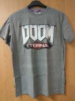 oblečení pro hráče Tričko Doom: Eternal - Logo, světle šedé (velikost S)