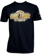 oblečení pro hráče Tričko Euro Truck Simulator - Černé s logem (velikost XL)