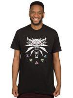 oblečení pro hráče Tričko Zaklínač 3 - Signs of Witcher (americká vel. M / evropská L)