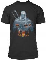 oblečení pro hráče Tričko Zaklínač - Geralt and Eredin (americká vel. M / evropská L)
