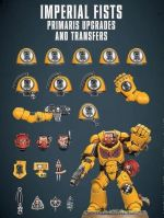 Stolní hra W40k: Imperial Fists Primaris Upgrades and Transfer