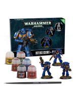 Stolová hra W40k: Space Marines Intercessors + Paint Set (3 figurky, 6 barev a štětec)