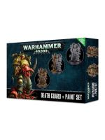 Stolová hra Warhammer 40.000 - Citadel Death Guard + Paint Set (3 figúrky, 6 farieb a štetec)