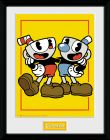 Zarámovaný plagát Cuphead - Cuphead and Mugman
