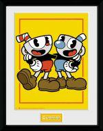Zarámovaný plagát Cuphead - Cuphead and Mugman (HRY)