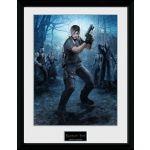 Zarámovaný plagát Resident Evil: Leon Gun
