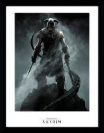 Zarámovaný plagát Skyrim - Dragonborn (HRY)