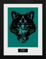 Zarámovaný plagát Assassins Creed: Valhalla - Wolf (HRY)