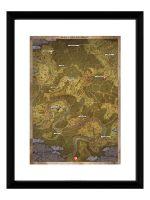 Zarámovaný plagát Xzone Originals - Kingdom Come: Deliverance - Mapa (HRY)