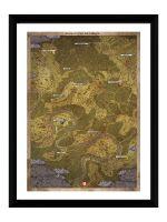 Hračka Zarámovaný plakát Xzone Originals - Kingdom Come: Deliverance - Mapa (ver. 2)