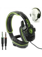 Herné príslušenstvo Herní stereo sluchátka s mikrofonem Sades SA708 (černo-zelená)