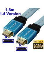 Herné príslušenstvo Kábel HDMI 1.4 (plochý, dĺžka 1,8m, pre 3D i Ethernet)