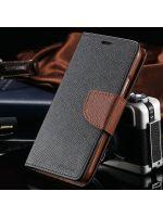 pouzdro Mercury (Samsung Galaxy S4) - černo-hnědé