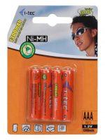 Herné príslušenstvo Nabíjacie batérie AAA i-Tec 1300 mAh, 4 ks