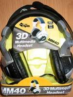 Herné príslušenstvo Sluchátka s mikrofonem MM40