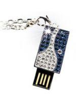 Hern� pr�slu�enstvo USB k��� Pretec i-Disk Sparkling Blue 4GB (Swarovski)