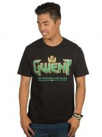 oblečení pro hráče Tričko Zaklínač - Gwent Classic Logo (americká vel. S/evropská M)