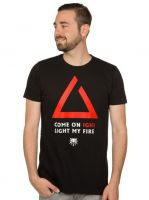 oblečení pro hráče Tričko Zaklínač - Igni Light My Fire (americká vel. M/evropská L)