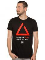 oblečení pro hráče Tričko Zaklínač - Igni Light My Fire (americká vel. XL/evropská 2XL)