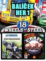 Hra pre PC Balíček hier 1 (18 wheels + Yamaha + Golf)
