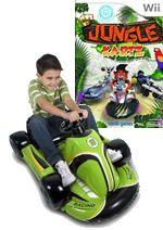 Hra pre Nintendo Wii Jungle Kartz (+ zelená nafukovacia motokára)