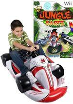 Hra pre Nintendo Wii Jungle Kartz (+ červená nafukovacia motokára)