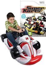 Hra pre Nintendo Wii Super Karts (+ červená nafukovacia motokára)