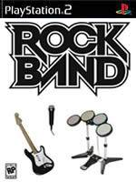 Hra pre Playstation 2 Rock Band + gitara/bicie/mikrofón