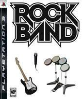 Hra pre Playstation 3 Rock Band + gitara/bicie/mikrofón