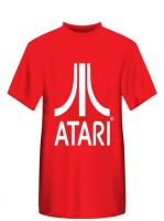 oblečení pro hráče Tričko Atari - Classic logo, červené (velikost L)