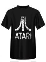 Herné tričko Tričko Atari - Distressed Logo, čierne (veľkosť XXL)