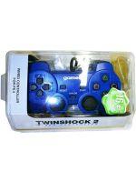 Príslušenstvo pre Playstation 2 Drôtový gamepad TwinShock 2 pre PS2 (Gamer) (modrý)