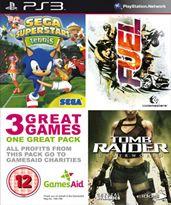 Hra pre Playstation 3 GamesAid PS3 Triple Pack (Tomb Raider: Underworld / Sega Superstars Tennis / Fuel)