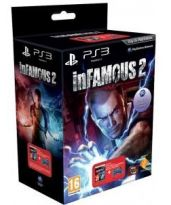 Hra pre Playstation 3 Infamous 2 + DualShock 3 (modrý)