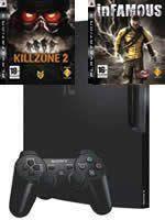 Príslušenstvo pre Playstation 3 konzola Sony PlayStation 3 Slim (250GB) + Killzone 2 + Infamous