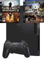 Pr�slu�enstvo pre Playstation 3 konzola Sony PlayStation 3 Slim (250GB) + Resistance 2 + MotorStorm
