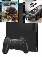 Príslušenstvo pre Playstation 3 konzola Sony PlayStation 3 Slim (250GB) + Gran Turismo 5 Prologue + Motorstorm: Pacific Rift