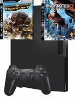 Príslušenstvo pre Playstation 3 konzola Sony PlayStation 3 Slim (320GB) + Uncharted 2 / Motorstorm: Pacific Rift