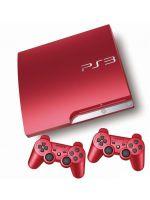 Príslušenstvo pre Playstation 3 konzola Sony PlayStation 3 Slim - červená (320GB) + druhý GamePad